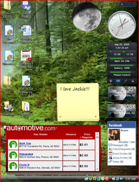 Windows Sidebar and Desktop Gadgets
