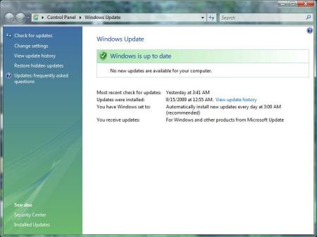 Windows Update in Vista