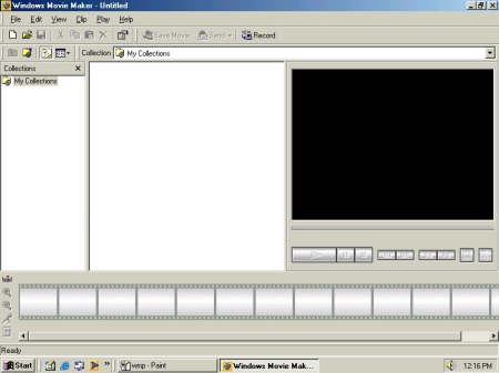 Windows Movie Maker in Windows ME
