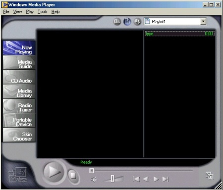 Windows Media Player 7 in Windows ME