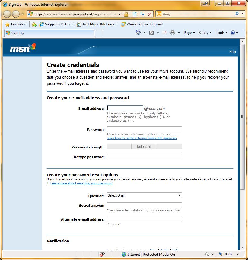 msn.com email