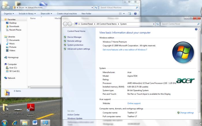 Windows Virtual PC installed in Windows 7 Home Premium