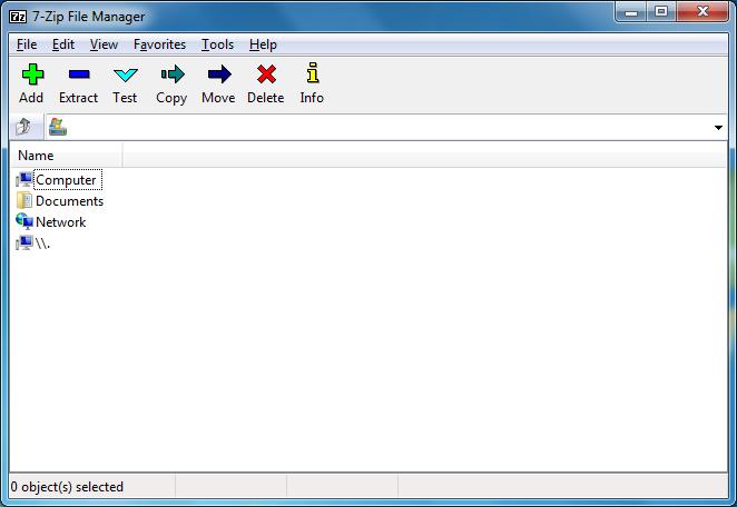 7zip in Windows 7