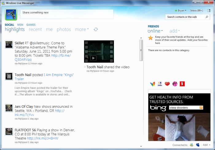 The New Windows Live Messenger in Windows 7