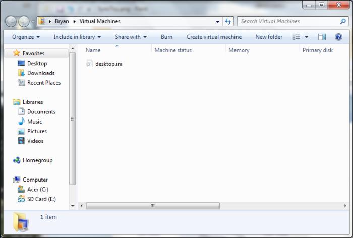 Windows Virtual PC in Windows 7
