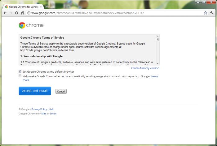 Chrome 12 in Windows 7 64-bit